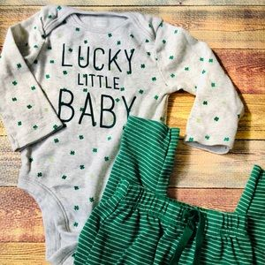 ST PATRICKS DAY 6-12M BABY BOY OUTFIT